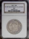 Bust Half Dollars: , 1813 50C Good 6 NGC. Ex: Jules Reiver Collection. O-107a, R.1. Alight pink-gray piece with occasional freckles of charcoal...