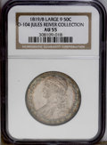 Bust Half Dollars: , 1819/8 50C Large 9 AU55 NGC. O-104, R.1. Immediately attributed asthe second star is drastically recut, and all of the Es ...