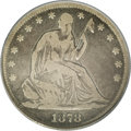 Seated Half Dollars: , 1878-S 50C VG8 PCGS. The 1878-S is the key issue in the date and mintmark set of Seated half dollars. Only 12,000 pieces w...