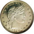 Proof Barber Half Dollars: , 1914 50C PR65 NGC. This is a popular issue, not only for its extremely low proof mintage of just 380 coins, but also becaus...