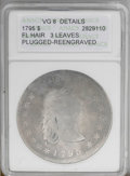 Early Dollars: , 1795 $1 Flowing Hair, Three Leaves--Plugged, Reengraved--ANACS. VG8 Details. B-5, BB-27, R.1....