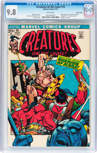 Creatures on the Loose #16 Suscha News pedigree (Marvel, 1972) CGC NM/MT 9.8 White pages