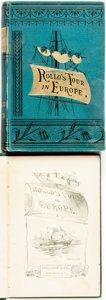 Books:Literature Pre-1900, Jacob Abbott. Two Editions of Rollo's Tour in Europe.Rollo in Naples. New York: John R. Anderson, 1858....(Total: 2 Items)