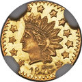 California Fractional Gold , 1876 50C Indian Round 50 Cents, BG-1060, High R.5, MS66 ProoflikeNGC....