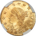 California Fractional Gold , 1876 25C Liberty Round 25 Cents, BG-854, Low R.5, MS66 NGC....