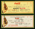 Miscellaneous:Other, Coca-Cola Checks.. ... (Total: 2 notes)