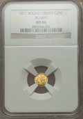 California Fractional Gold: , 1871 25C Liberty Round 25 Cents, BG-809, Low R.4, MS66 NGC. NGCCensus: (2/2). PCGS Population (4/0). ...