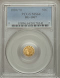 California Fractional Gold: , 1880/70 50C Indian Round 50 Cents, BG-1067, Low R.4, MS64 PCGS.PCGS Population (23/6). NGC Census: (1/0). ...