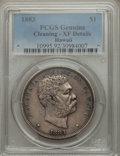Coins of Hawaii: , 1883 $1 Hawaii Dollar -- Cleaning -- PCGS Genuine. XF Details. PCGSPopulation (159/434). Mintage: 500,0...