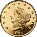 "S.S.C.A. Relic Gold Medals, 1855 $50 SSCA Relic Gold Medal ""1855 Kellogg & Co. Fifty"" GemProof PCGS...."