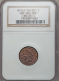 Civil War Patriotics, 1863 Not One Cent MS65 Red NGC. Fuld-86/357a....