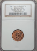 Civil War Patriotics, 1863 George Washington MS64 Red and Brown NGC. Fuld-119/398a....