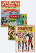 Golden Age (1938-1955):Miscellaneous, Comic Books - Assorted Golden Age Comics Group (Various Publishers, 1941-44) Condition: Average FR.... (Total: 3 Comic Books)