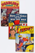 Golden Age (1938-1955):Miscellaneous, Comic Books - Assorted Golden Age Comics Group (Various Publishers, 1940s) Condition: Average VG+.... (Total: 10 Comic Books)