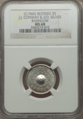 20th Century Tokens and Medals, (circa-1960) J.J. Conway & Co. Silver Bashlow Restrike MS68NGC....