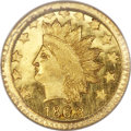 California Fractional Gold , 1868 50C Indian Round 50 Cents, BG-1074, R.6, MS66 PCGS....