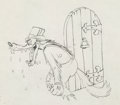 Animation Art:Production Drawing, Big Bad Wolf Production Drawing Animation Art (Walt Disney,1934)....