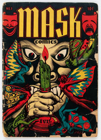 Mask Comics #1 (Rural Home, 1945) Condition: GD-