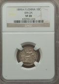 French Indo-China: French Colony 10 Cents 1895-A VF20 NGC