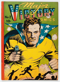 Major Victory Comics #2 (H. Clay Glover Company, 1944) Condition: FN