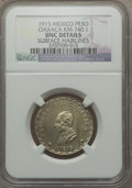 Mexico, Mexico: Revolutionary. Oaxaca Peso 1915 UNC Details (SurfaceHairlines) NGC,...
