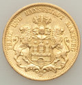 German States:Hamburg, German States: Hamburg. Free City gold 20 Mark 1877-J XF/AU,...