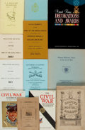 Books:Americana & American History, [U.S. Military]. [Civil War]. Group of Twelve Publications Relatingto the U.S. Military in the Civil War Era. Various publi... (Total:12 Items)