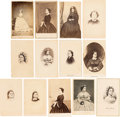 Photography:CDVs, Mary Todd Lincoln: Assorted Cartes-de-Visite. ... (Total: 13 Items)