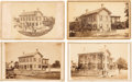 Photography:CDVs, Abraham Lincoln: Four Cartes of His Springfield Home. ... (Total: 4 Items)