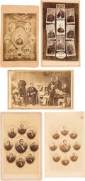 Photography:CDVs, Abraham Lincoln and His Cabinet: Five CDV's.... (Total: 5 Items)