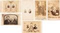 Photography:CDVs, Abraham Lincoln and George Washington: Six Cartes. ... (Total: 6 Items)