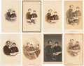 Photography:CDVs, Abraham and Tad Lincoln: Eight Cartes-de-Visite. ... (Total: 8 Items)