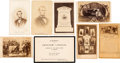 Political:Memorial (1800-present), Abraham Lincoln: Mourning Cartes and Embossed Card. ... (Total: 8 Items)