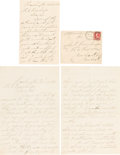 Autographs:Celebrities, Ford's Theatre: Ticket Seller Joseph S. Sessford Letters. ...(Total: 2 Items)