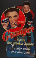 Hockey Collectibles:Others, Scarce 1930's Granger Tobacco Paul Thompson Store Sign. ...