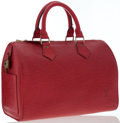 Luxury Accessories:Bags, Louis Vuitton Red Epi Leather Speedy 30 Bag. ...