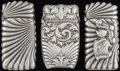 Silver Smalls:Match Safes, THREE SHIEBLER SILVER AND SILVER GILT MATCH SAFES, New York, NewYork, circa 1890. Marks to all: (winged S), STERLING, 365...(Total: 3 Items)