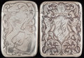 Silver Smalls:Match Safes, TWO BLACKINTON SILVER MATCH SAFES, North Attleboro, Massachusetts,circa 1890. Marks to both: (sword-B), STERLING, 87; 848...(Total: 2 Items)