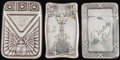 Silver Smalls:Match Safes, THREE BLACKINTON SILVER AND SILVER GILT MATCH SAFES, NorthAttleboro, Massachusetts, circa 1910. Marks to all: (sword-B),... (Total: 3 Items)