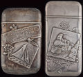 Silver Smalls:Match Safes, TWO HOWARD SILVER MATCH SAFES, Providence, Rhode Island, circa1886. Marks to both: (clover), STERLING; 5429. 2-3/4 inch...(Total: 2 Items)