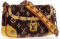 Louis Vuitton Brown Monogram Velour Trompe l'Oeil Shoulder Bag