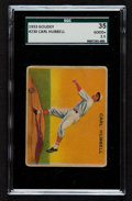 Baseball Cards:Singles (1930-1939), 1933 Goudey Carl Hubbell #230 SGC 30 Good+ 2.5....