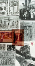 Books:Prints & Leaves, [Crucifixion] Archive of Material Related to Crucifixion. Lot may include photographic reprints, negatives, newspaper clippi...