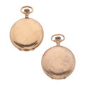 Timepieces:Pocket (post 1900), Two Waltham's Hunter's Case Pocket Watches. ... (Total: 2 Items)