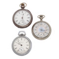 Timepieces:Pocket (post 1900), Two Elgin's & One Waltham Pocket Watches. ... (Total: 3 Items)