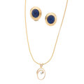 Estate Jewelry:Lots, Diamond, Lapis Lazuli, Gold Jewelry. ... (Total: 2 Items)