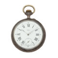 Timepieces:Pocket (post 1900), Perrin Over Size Pocket Watch. ...