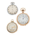 Timepieces:Pocket (post 1900), Waltham 24-Hour, Movado & Girard Perregaux Pocket Watches Runners. ... (Total: 3 Items)