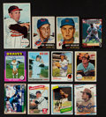 Autographs:Sports Cards, 1950's-2000's HOFers, Stars & Regional Stars Signed Baseball Cards Lot of 330....