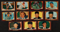 Baseball Cards:Lots, 1955 Bowman Baseball Collection (11) All Umpires, Stars and HoFers. ...